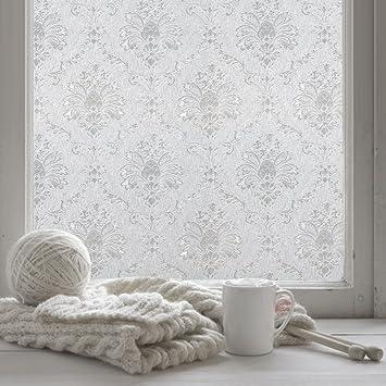 Fancy Fix Selbsthaftende Und Statische Fensterfolie Mit Blumen Motiv