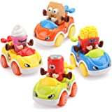 OWNONE 1 Baby Toy Cars for Toddler,Push and Go Dinner Cars Toys Vehicles Set of 4 PCS,Friction Powered Cars& Pull Back…