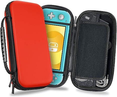 Funda para Nintendo Switch Lite - Transporte Dura de Viaje para Juegos Carcasa de Protección Rigid Lite para Consola Cable Nintendo Switch Lite y Accesorios de YOUSHARES (Red): Amazon.es: Videojuegos