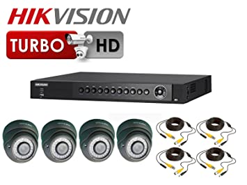 1080 P HD TVI CCTV KIT HIKVISION DS-7204HQHI-SH TURBO DVR 4 x cámaras domo de distancia focal variable 2,8-12 millimeter lente 30 m IR: Amazon.es: Bricolaje ...