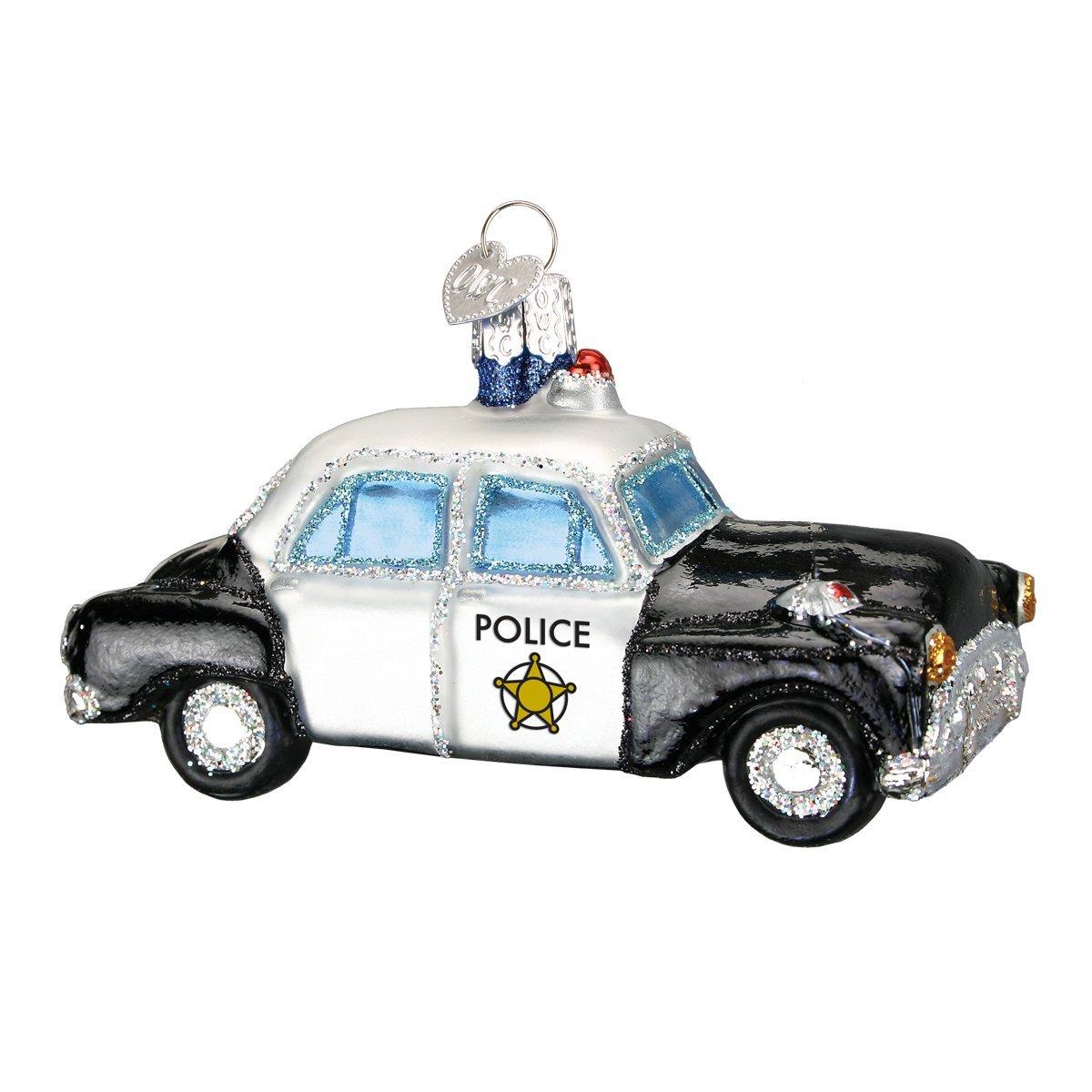 Amazon.com: Old World Christmas Police Car Glass Blown Ornament ...