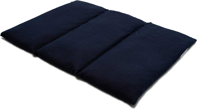 Saco térmico de semillas 40x30 cm azúl oscuro - Almohada para la espalda o el vientre - Para microondas y horno - Semillas de grosella