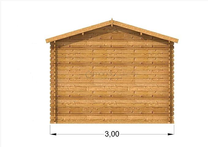 Mondocasette Casa Casa de Madera de jardín - Modelo Bologna Grosor Paredes 28 mm 3 x 4 m, legnaia ripostiglio Box: Amazon.es: Jardín