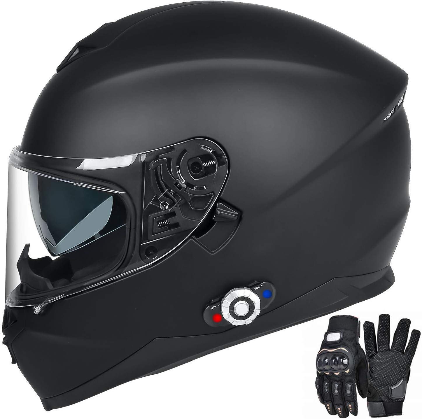 2x FDCVB Motorcycle Intercom 500M Motorbike Bluetooth Helmet Headset BT FM Radio