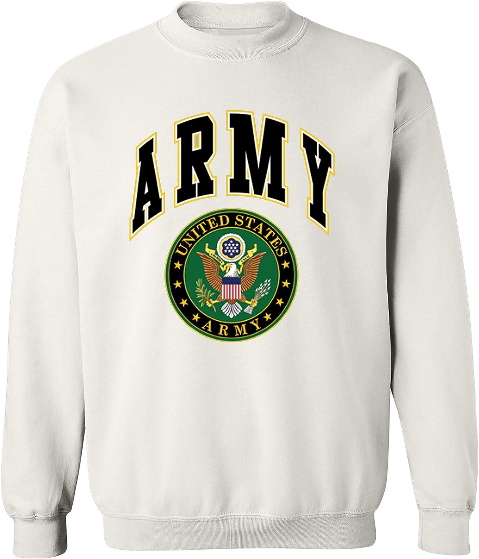 United States Army Crew Neck Sweatshirt Army Logo Crest Patriotic