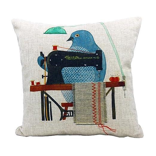 Dennis tienda gbg152 (*) pájaros máquina de coser cojín ...