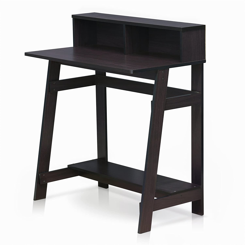 FURINNO Simplistic A Frame Computer Desk, Dark Walnut