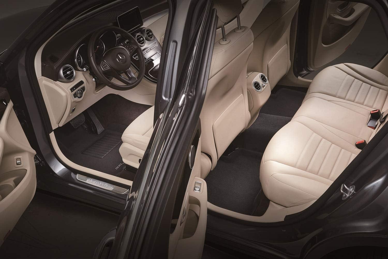 3D MAXpider Custom Fit Complete Set All-Weather Floor Mats for Select Chevrolet Tahoe Models Black Elegant Series