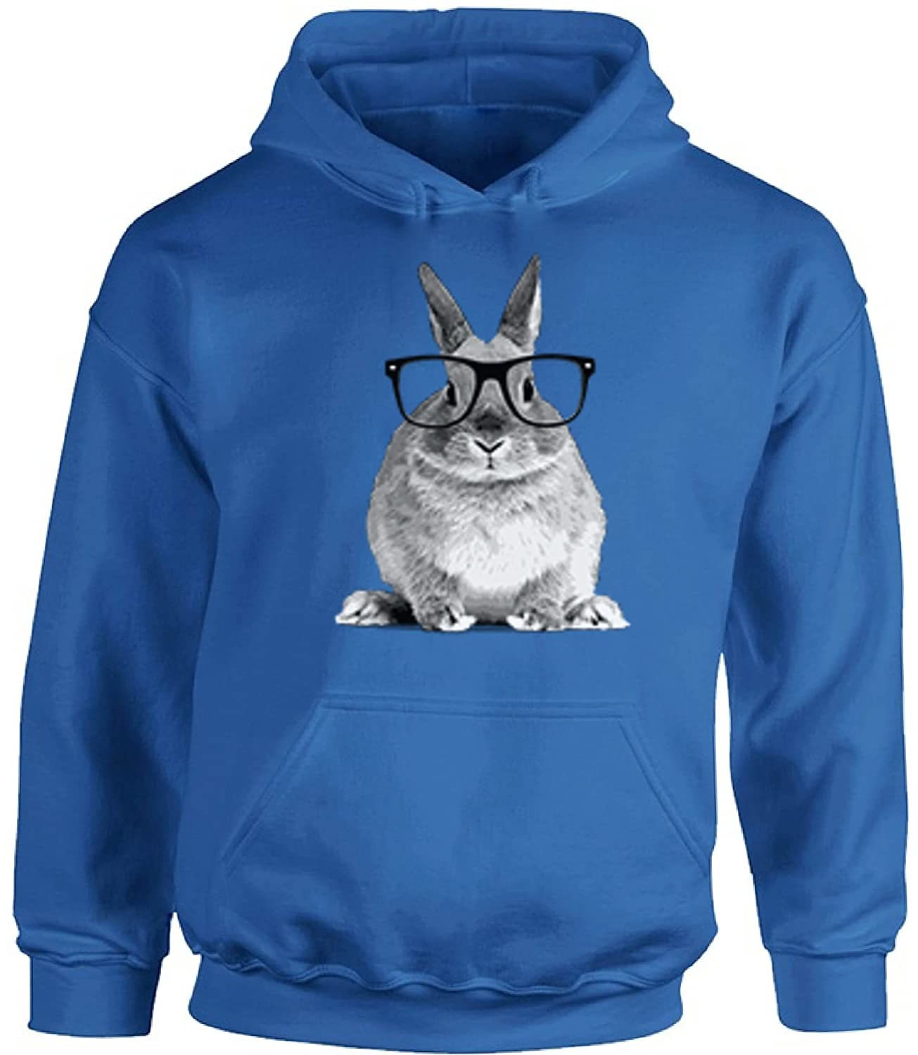 Awkward Styles Unisex Rabbit with Glasses Funny Cute Hoodie Hooded Sweatshirts Hipster Rabbit