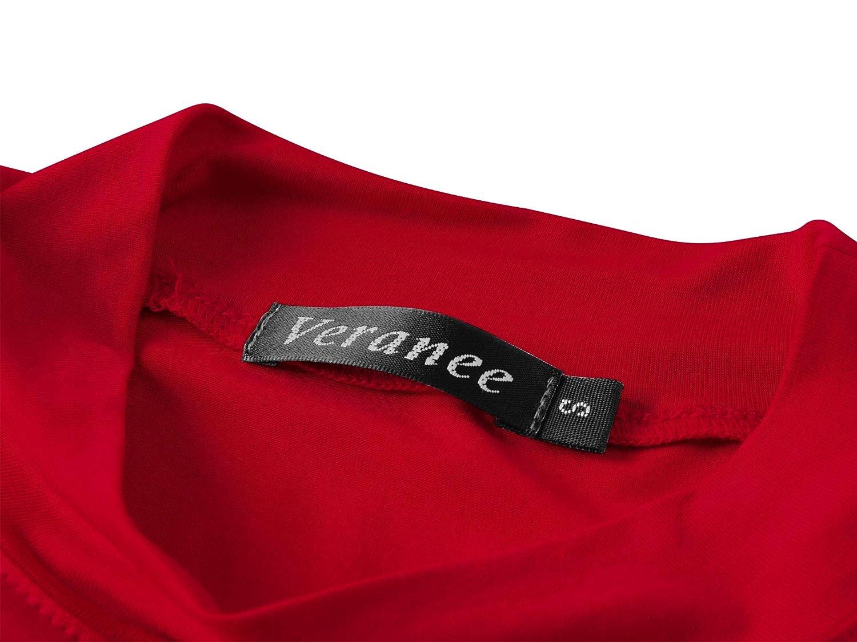 4a20e868 Veranee Women's Long Sleeve Slim Fit Turtleneck Basic Layering T-Shirt