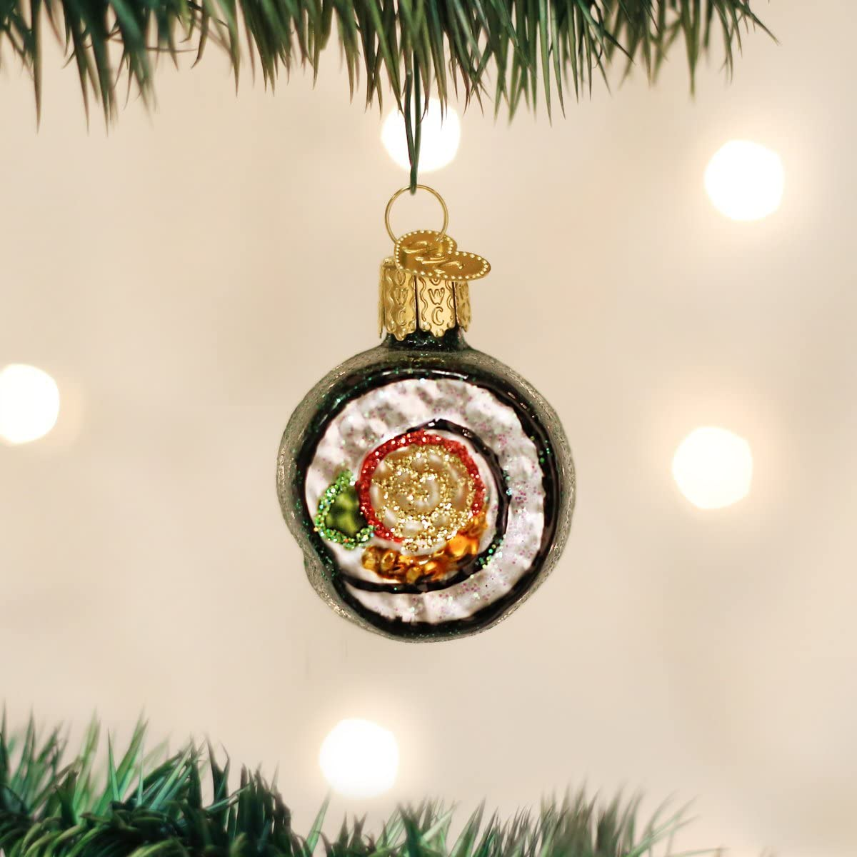 Bagel Glass Blown Ornaments for Christmas Tree Old World Christmas Ornaments 32221