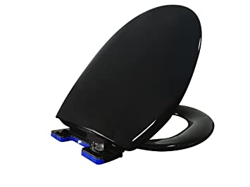 coloured soft close toilet seat. Ultra  Black Soft Slow close Quiet Quick release Toilet Seat with Close Hinges