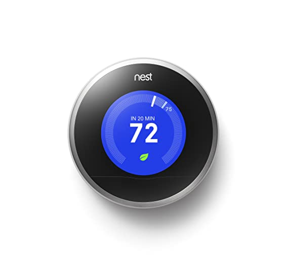 Nest Learning Thermostat, 2nd Generation, Works with Alexa - Programmable Household Thermostats - Amazon.com