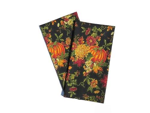 Floral Fall Tea Towels Set of 2