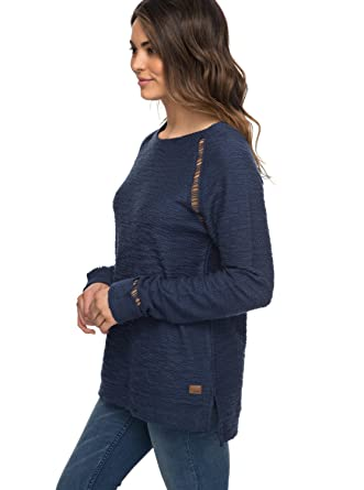 Sweat Femme Roxy Bleu Col Livin The In Rond M City rxsothdCBQ