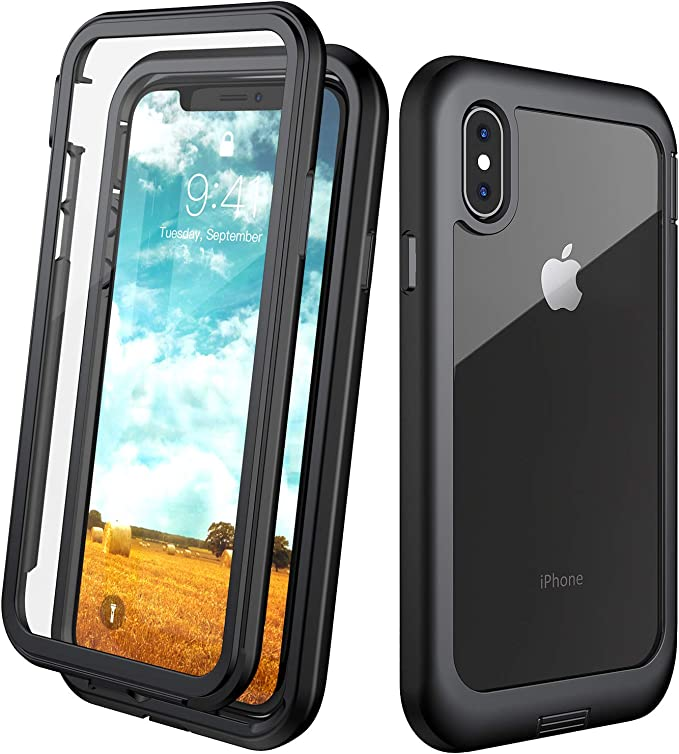 Eonfine Iphone X Case Iphone Xs Case Built In Screen Protector Real 360 Full Body Protection Heavy Duty Shockproof Rugged Cover Skin For Iphone X Xs