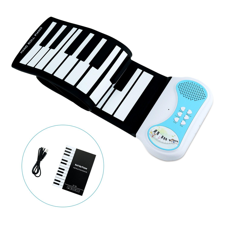 Amazon kids pianosanmersen roll up piano keyboard 37 keys amazon kids pianosanmersen roll up piano keyboard 37 keys flexible soft electric digital portable piano for beginner musical instruments educational baditri Choice Image