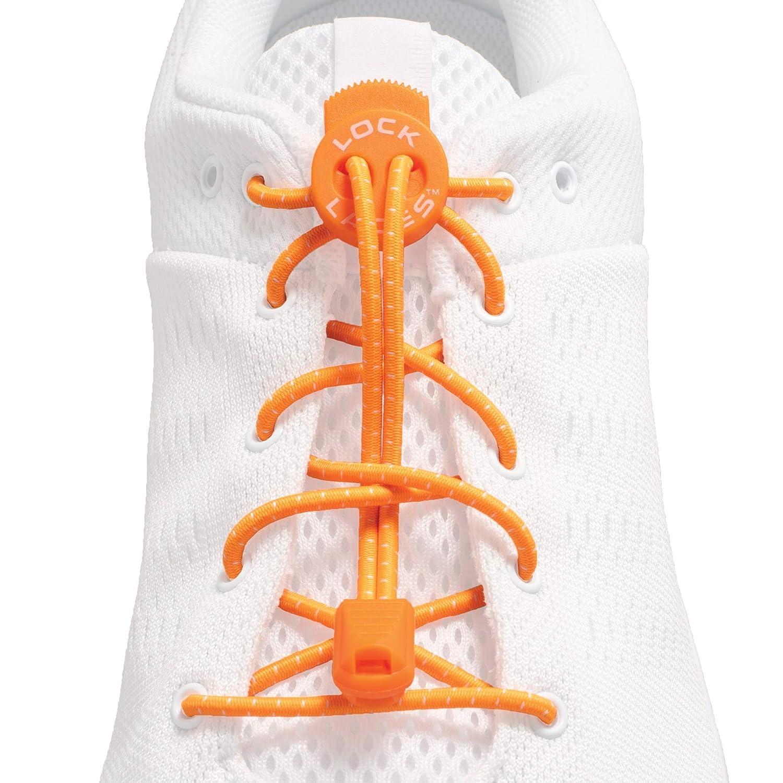 LOCK LACES elastische selbstbindende Schnürsenkel: Schnellschnürsystem für Kinder, Athleten, Erwachsene & Senioren Keine Schuhe binden erforderlich