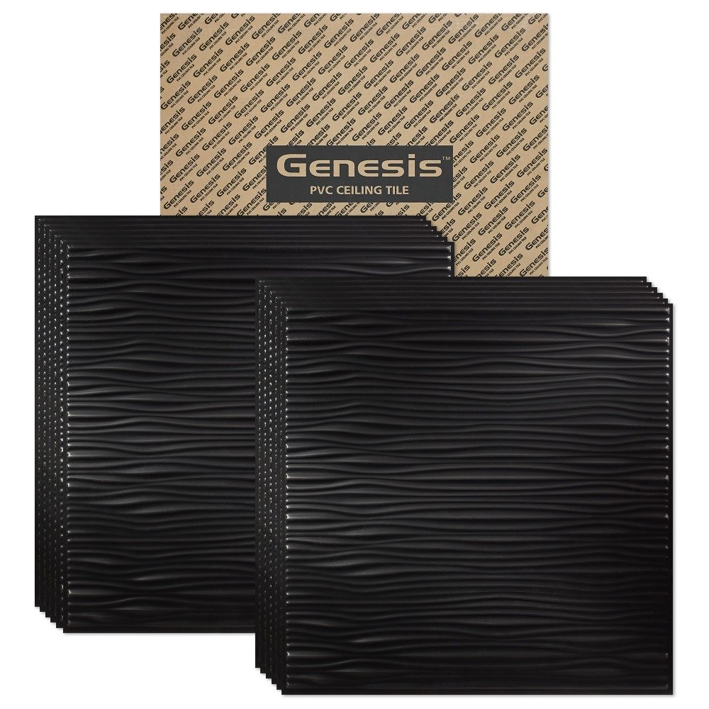 Amazon genesis drifts black 2x2 ceiling tiles 3 mm thick amazon genesis drifts black 2x2 ceiling tiles 3 mm thick carton of 12 these 2x2 drop ceiling tiles are water proof and wont break fast and dailygadgetfo Image collections