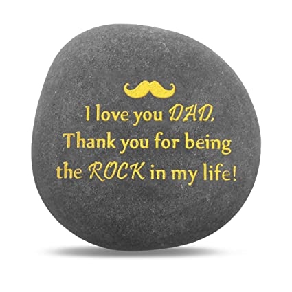 Amazon.com: Regalo único para papá, gracias por ser mi roca ...