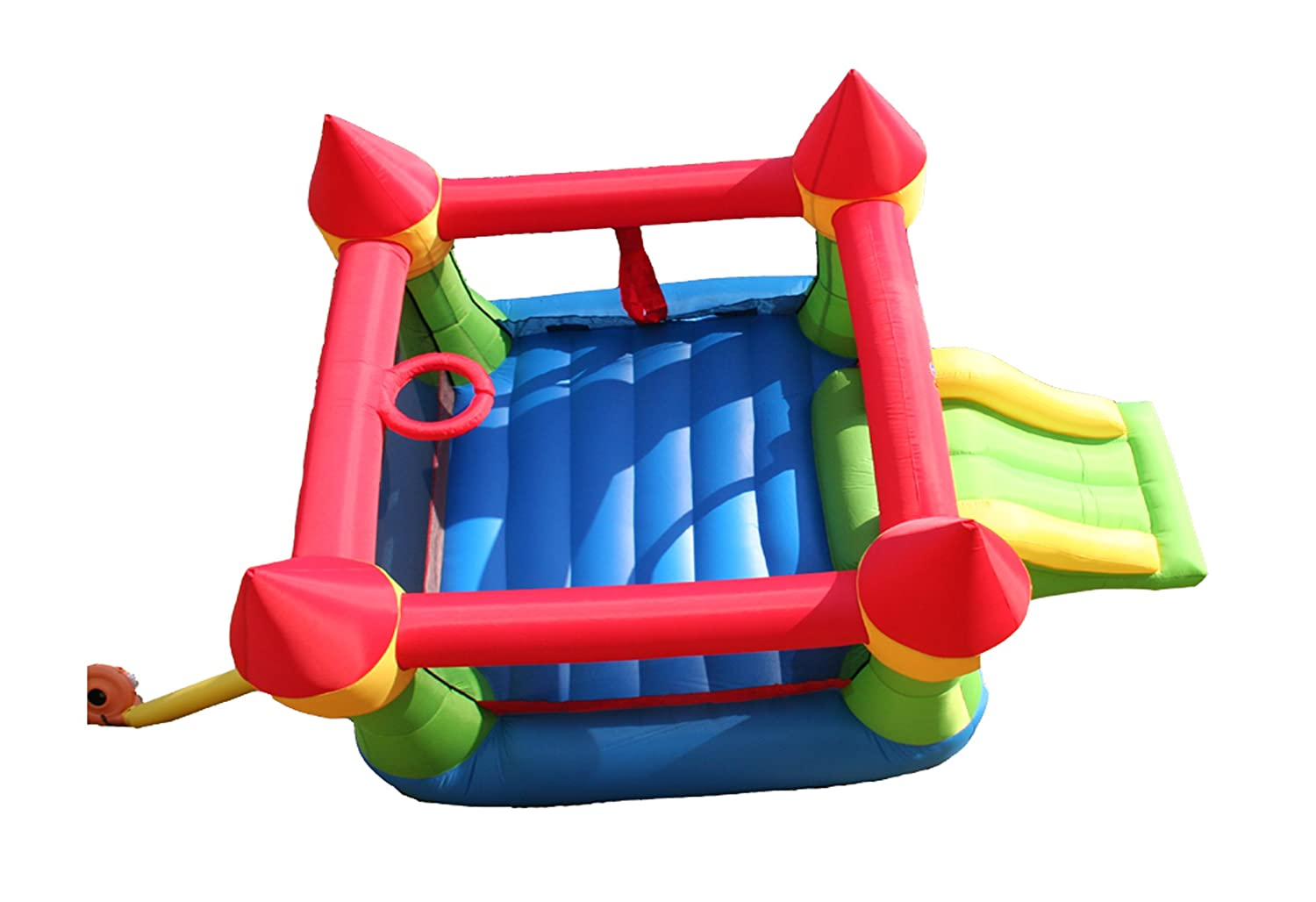 Amazon.com: Bounceland Castle W/Hoop Inflatable Bounce House Bouncer: Toys  & Games