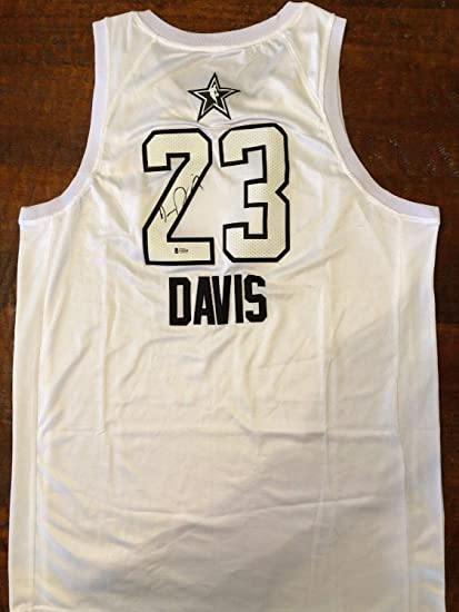 factory authentic 9d262 012cb Anthony Davis Autographed Signed Memorabilia Nba All Star ...