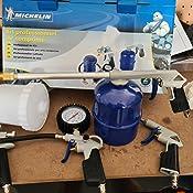 Michelin CAKITMICHELIN - Kit de aire profesional 5 pzs. (pistolas de pintar, soplar, petrolear, lavar y espiral): Amazon.es: Bricolaje y herramientas