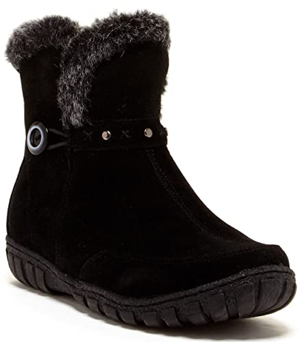 Dottie Women's Suede Boot With Faux Fur Trim