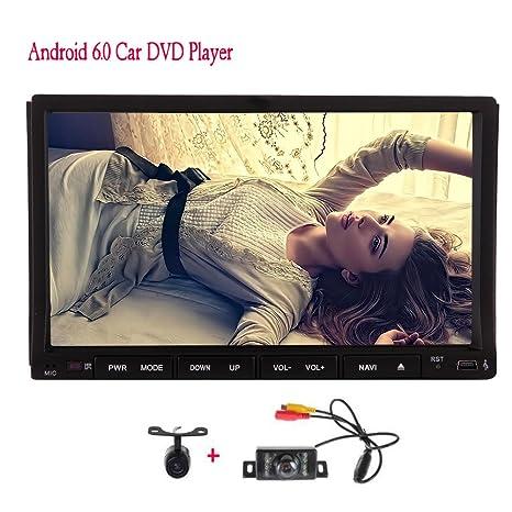 Pantalla táctil de radio auto receptor de audio Bluetooth MirrorLink Pure Android 6.0 Quad Core 2