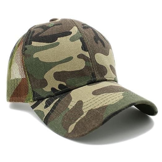 7aaf7ab8bb LAFSQ Plain Mesh Back Trucker Hat Snapback Baseball Cap