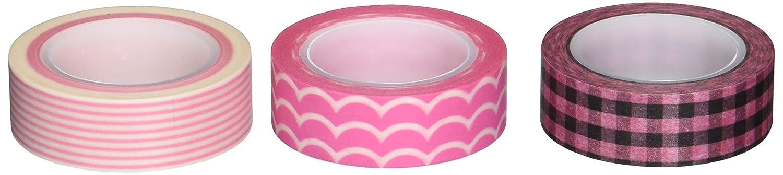Wrapables Rosa Pleasure Japanisches Washi Tape, Set von 3