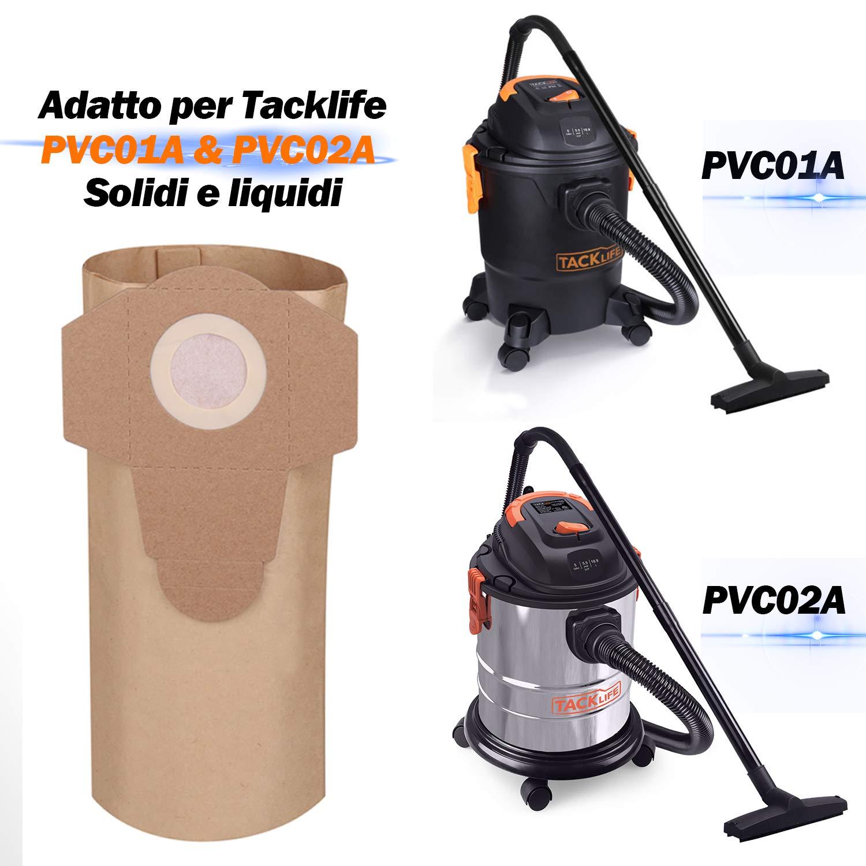 Acquisto Sacchetti per Aspirapolvere TACKLIFE PVC00Z 5 Sacchetti Filtrodi Ricambio, Diametro è 60mm, Apposito per TACKLIFE Aspiratore Solidi e Liquidi PVC01A e PVC02A Prezzo offerta