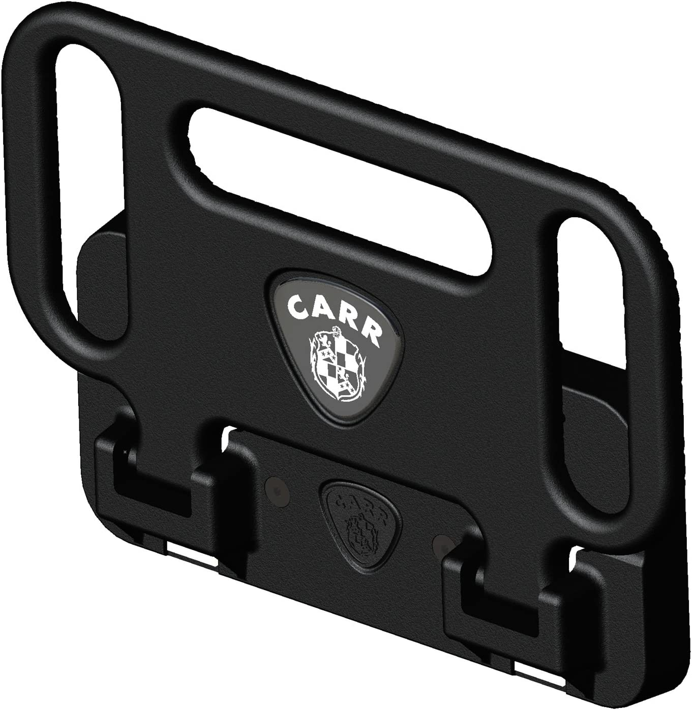 Carr HD Mega Hitch Step 2 and 2 1//2 Inch Receivers Black Powder Coat No Light