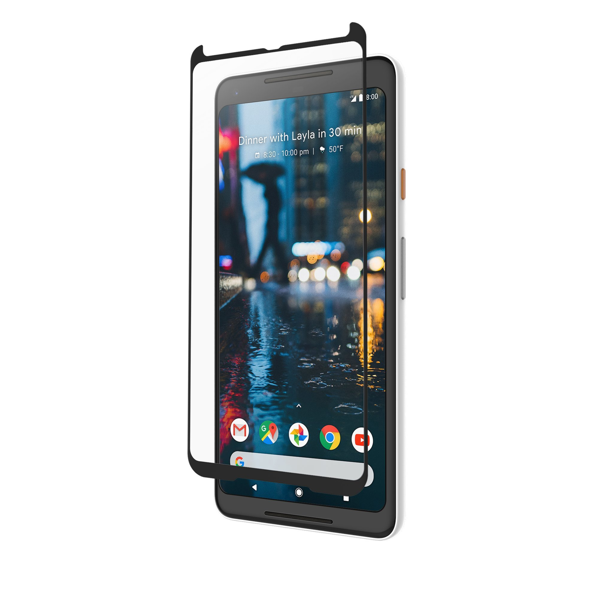 ZAGG InvisibleShield Glass Curved Screen Protector - Curved for The Google Pixel 2 XL -Impact & Scratch Protection - Smudge Resistant - Clear by ZAGG (Image #4)