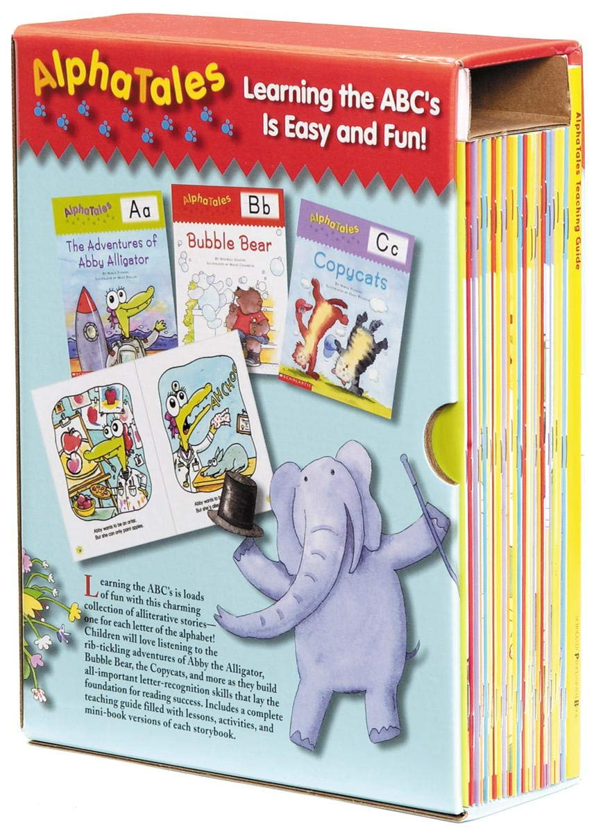 AlphaTales Box Set: A Set of 26 Irresistible Animal Storybooks That Build Phonemic Awareness & Teach Each letter of the Alphabet by Scholastic Teaching Resources (Teaching Strategies)