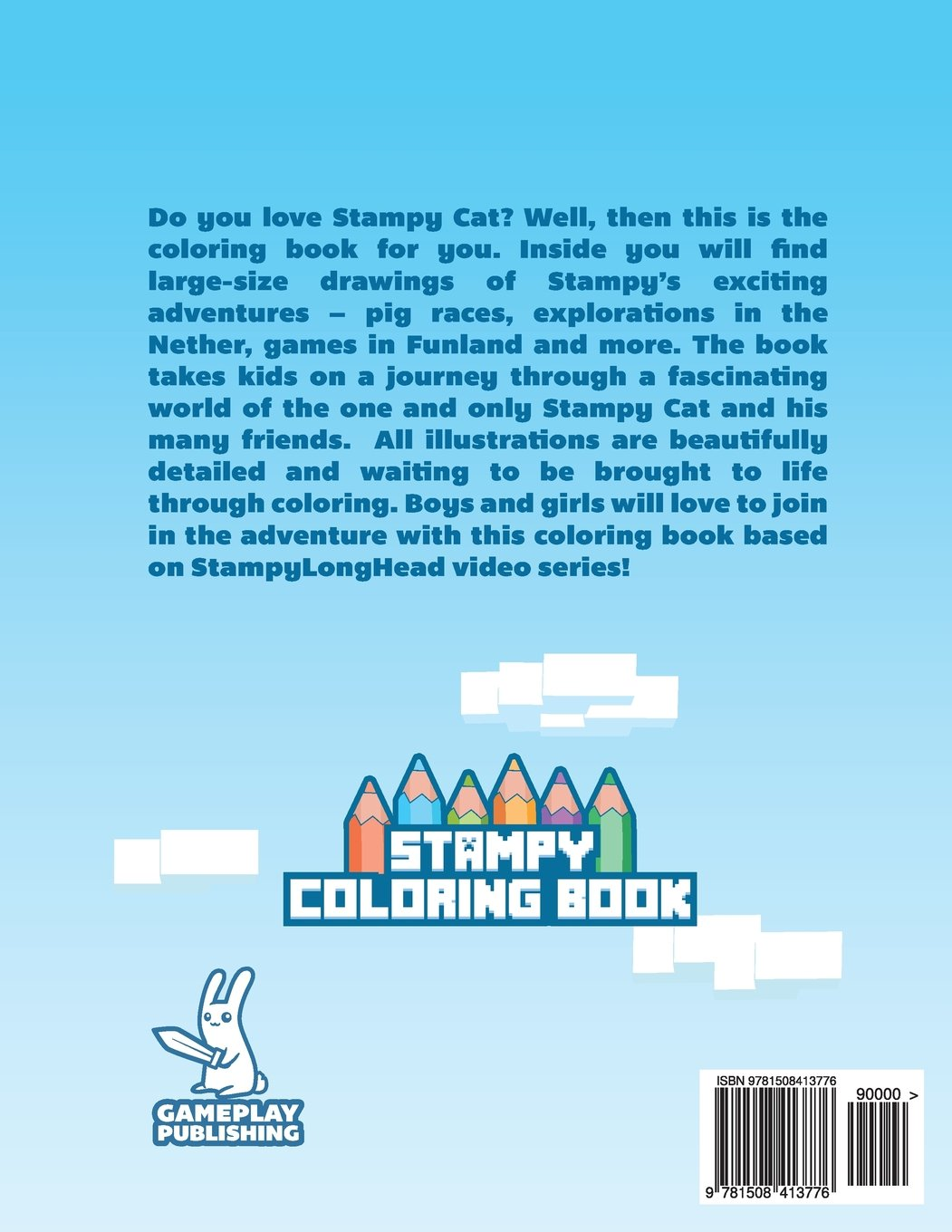 Stampy Cat Coloring Book Minecraft Adventures Gameplay Publishing Library 9781508413776 Books