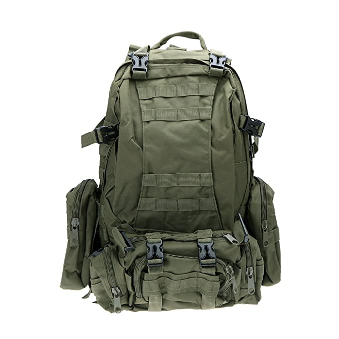 Amazon.com : Outdoor Camping Hiking Mens Backpacks Trekking Sport Women Backpack Mochilas Travel Bags Military Tactical Backpack Rucksacks Color Army Green ...