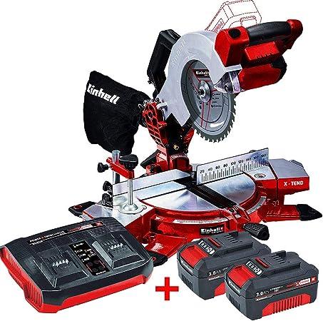 EINHELL - Pack ingletadora bateria Einhell TE-MS 18V / 210 Li + 2 baterias Einhell 18V PXC 3,0Ah Power X-Change + Cargador doble Einhell 18V: Amazon.es: Bricolaje y herramientas