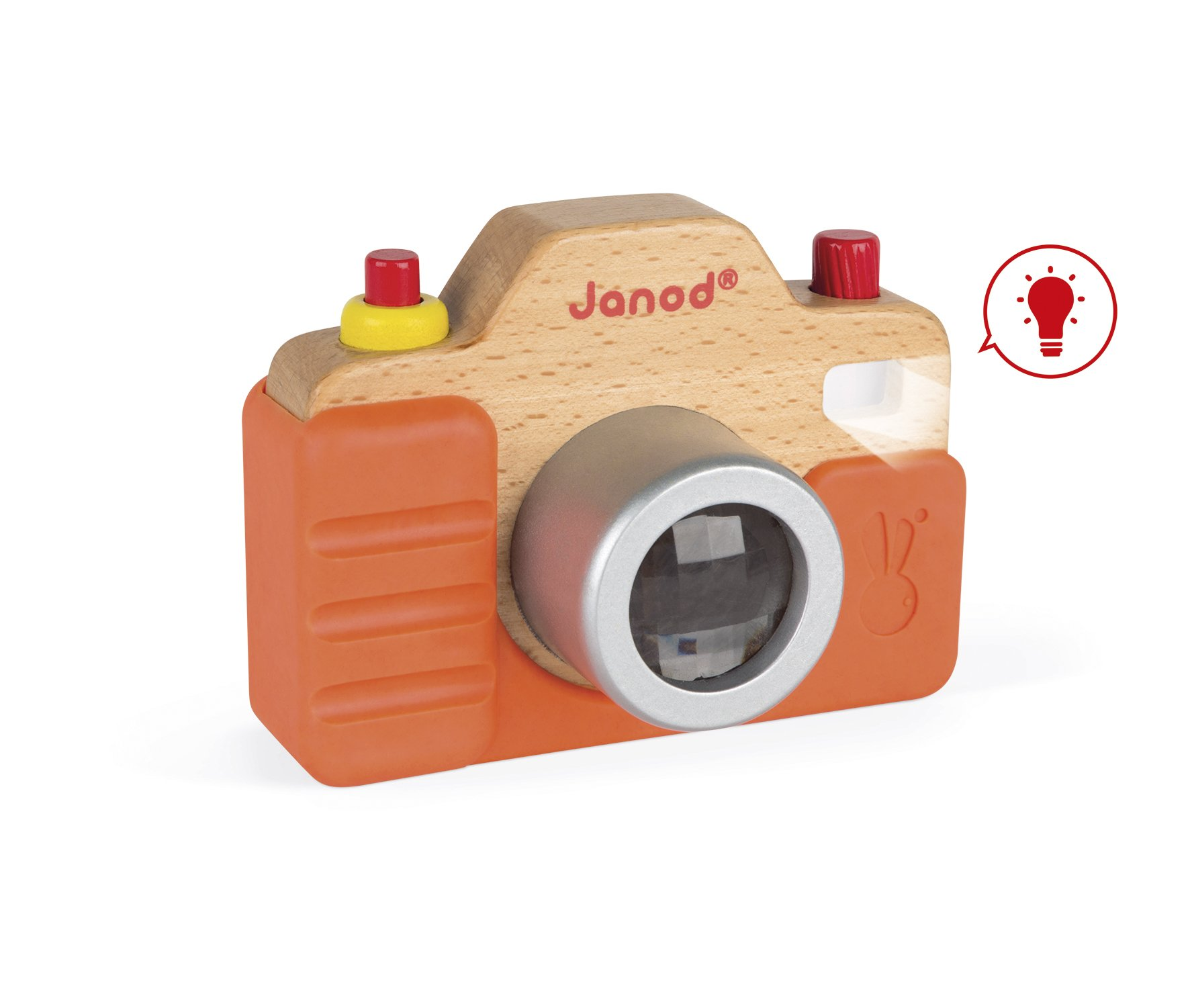 Janod Wooden Interactive Sound Camera Toy by Janod (Image #1)