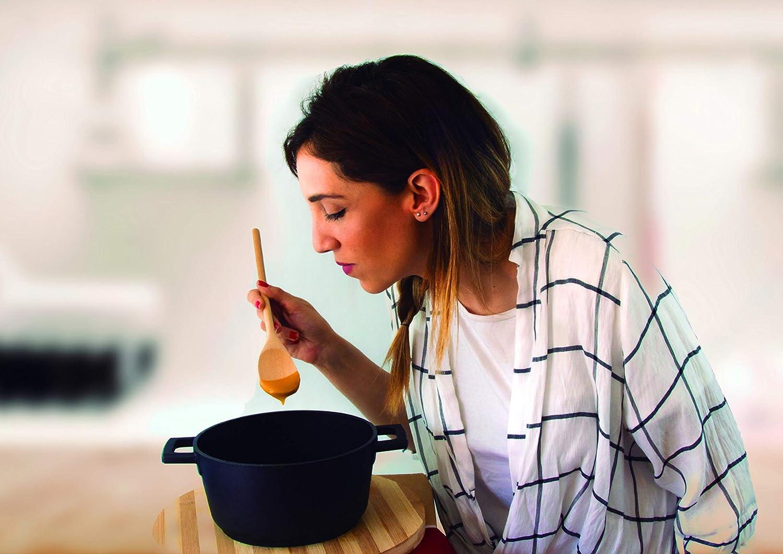 Fackelmann Cuill/ère de cuisine pour remuer m/élanger ou tester en bois de h/être Couleur naturelle 30 x 4,5 cm