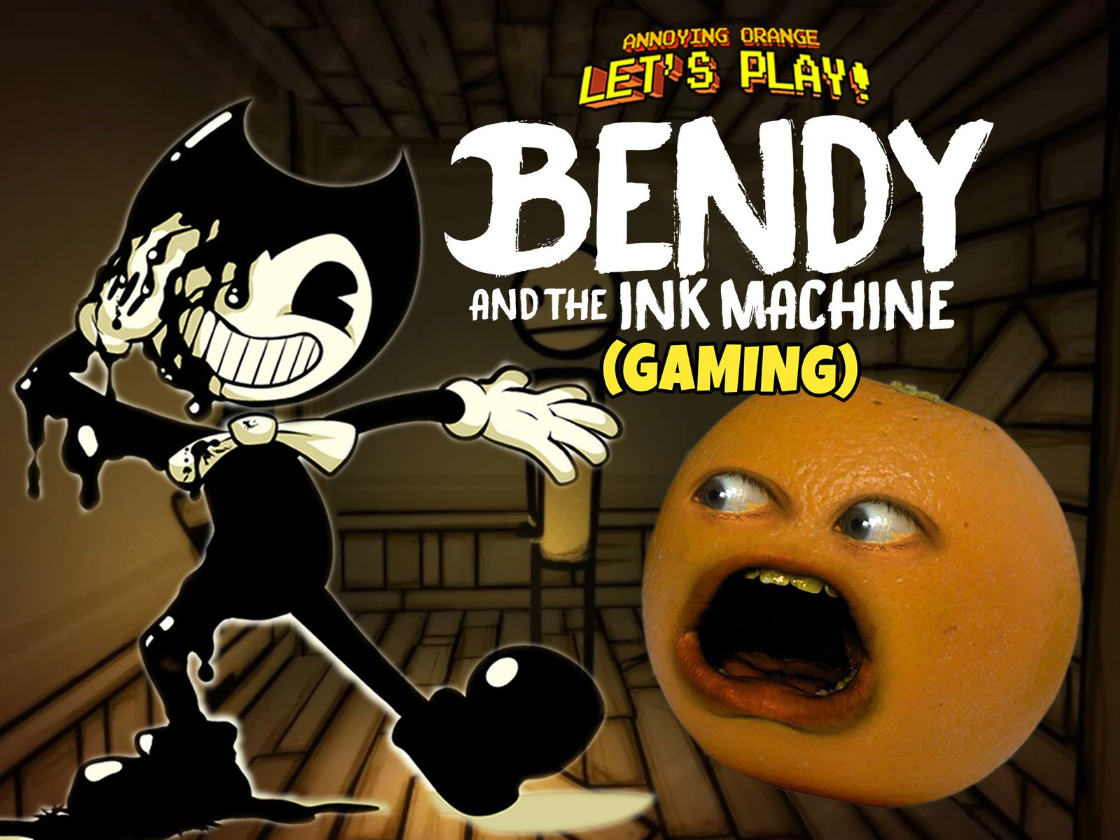 Watch Clip Annoying Orange Let S Play Bendy And The Ink Machine