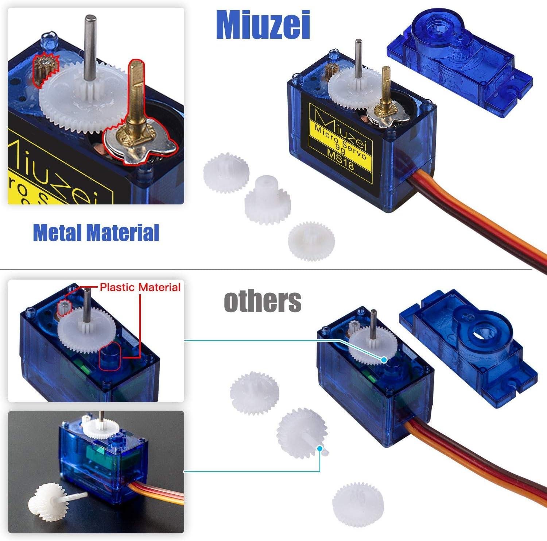 DeeCozy 4 Piezas SG90 Micro Servo Motor 9G RC Robot Helic/óptero Avi/ón Coche Barco Controles
