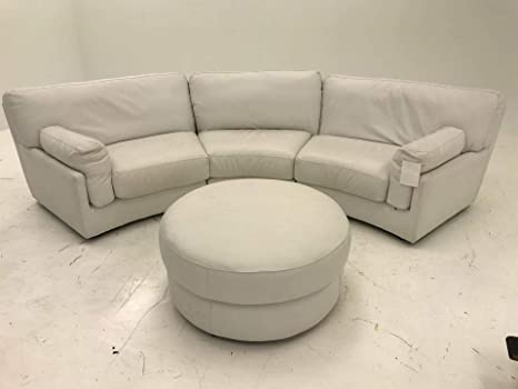 Pleasing Amazon Com Curved Sectional With Ottoman White Kitchen Caraccident5 Cool Chair Designs And Ideas Caraccident5Info