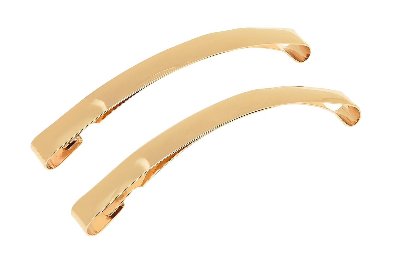 L. Erickson 9cm Metal Slide Barrette 2-Pack - Gold
