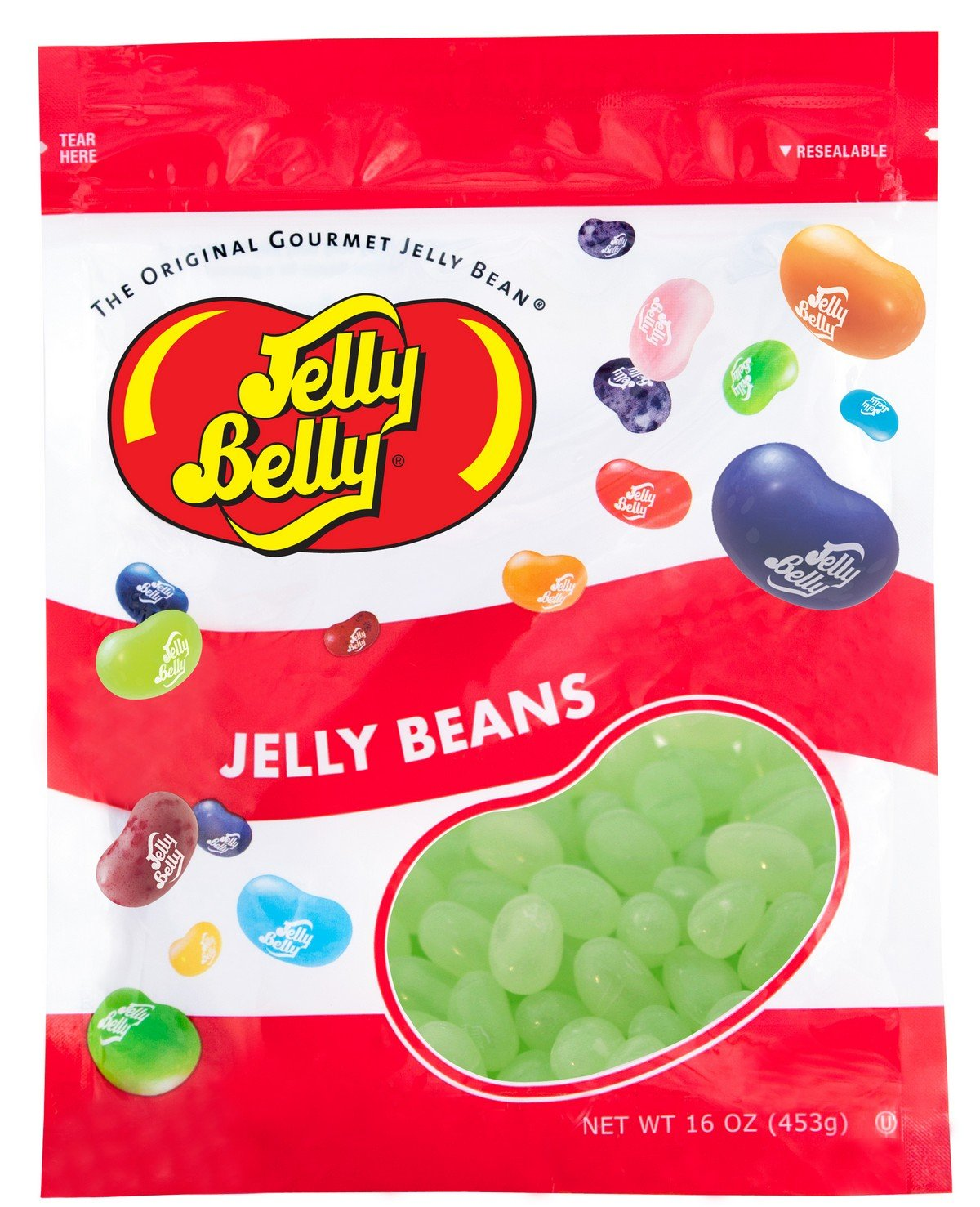 Jelly Belly 7UP Jelly Beans - 1 Pound (16 Ounces) Resealable Bag - Genuine, Official, Straight from the Source