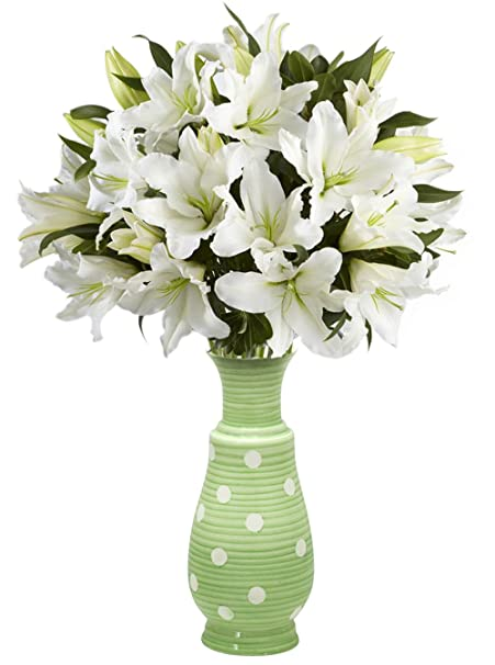 260 & BIG DEALS - SALE on Flower Vase - 23.1 cm Tall Ceramic Flower Vases - Green Decorative Centerpiece / Vase for Living Room