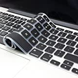 "Famber Keyboard Cover Silicone Skin for MacBook Pro 13"" 15"" 17"" (with or without Retina Display) iMac Macbook Air 13 Inch - Black"