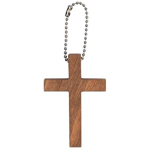 Amazon.com: 50 llaveros de madera con forma de cruz.: Arte ...