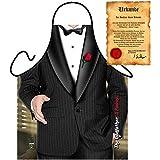 Koch und Grillschürze mit Smoking! 007! Godfather/Patron Inklusive Grillurkunde!