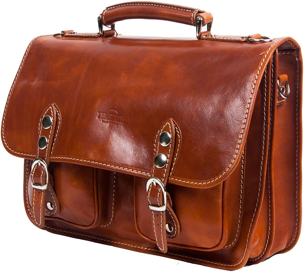 Timmari Vine Collection Italian Leather Messenger Bag